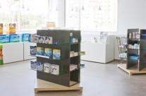 Interiorismo y decoración de Farmacias, góndolas, mobiliario para farmacia