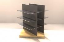 góndolas, mobiliario de farmacia, diseño mobiliario