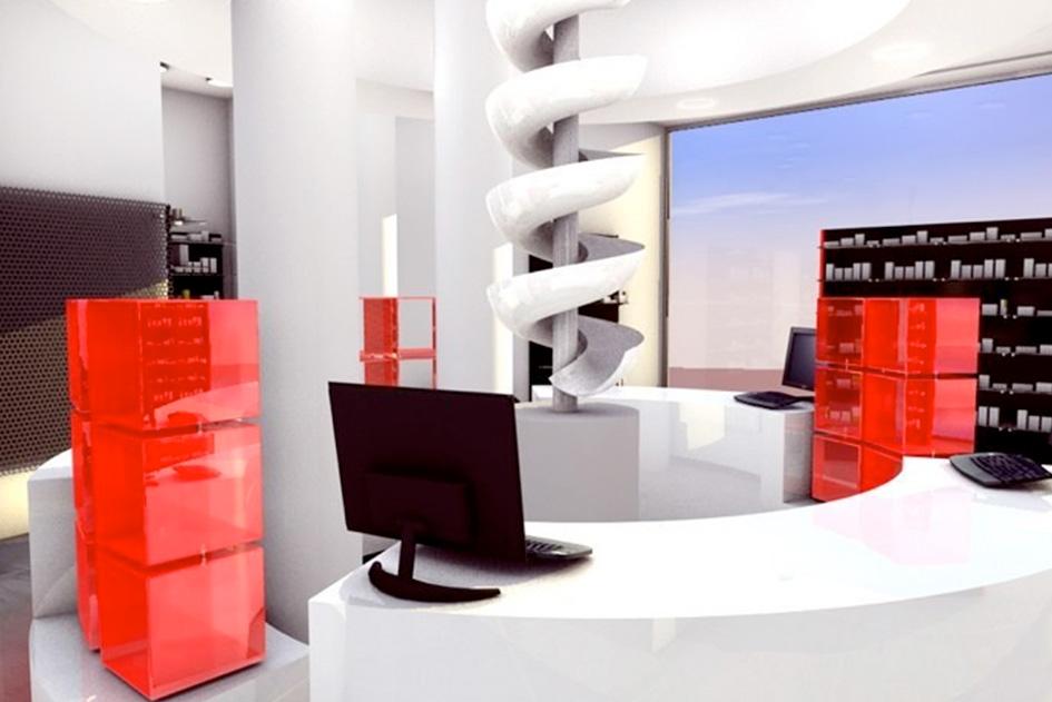 Farmacia boix espaciodoble inmobiliaria arquitectura y for Arquitectura y decoracion