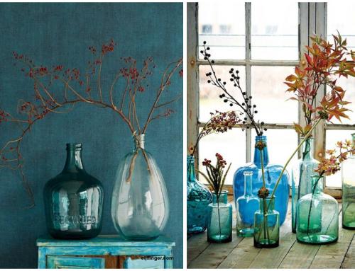 Nuevas ideas para decorar con ramas, flores y jarrones